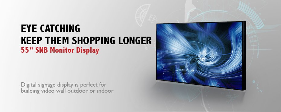 Banner 55 inch Super Narrow Bezel